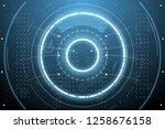 futuristic interface screen | Shutterstock .eps vector #1258676158