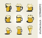 a collection of various beer... | Shutterstock .eps vector #125868092