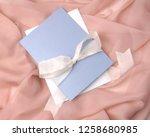 wedding invitation cad mockup...   Shutterstock . vector #1258680985