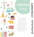 Canada Cartoon Vector Banner....