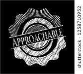approachable chalk emblem | Shutterstock .eps vector #1258710952