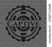 captive dark badge   Shutterstock .eps vector #1258711048