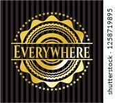 everywhere gold emblem or badge   Shutterstock .eps vector #1258719895