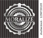 moralize silver shiny badge   Shutterstock .eps vector #1258720135