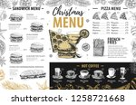 hand drawing christmas holiday... | Shutterstock .eps vector #1258721668