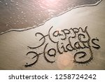 happy holidays message... | Shutterstock . vector #1258724242