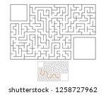 abstract rectangular maze. game ... | Shutterstock .eps vector #1258727962