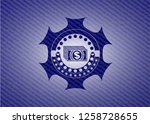 money icon inside badge with...   Shutterstock .eps vector #1258728655