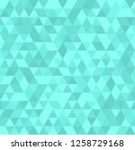 cyan mosaic abstract seamless... | Shutterstock . vector #1258729168