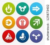 business arrow sign icon set