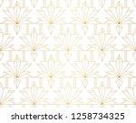 elegant damask floral vector...   Shutterstock .eps vector #1258734325