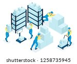 isometric concept in stock ... | Shutterstock .eps vector #1258735945