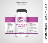 bottle label  package template... | Shutterstock .eps vector #1258742515