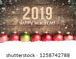 christmas ornaments and the... | Shutterstock . vector #1258742788