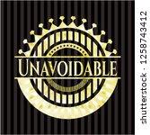 unavoidable gold badge or emblem   Shutterstock .eps vector #1258743412