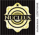 nucleus golden emblem or badge   Shutterstock .eps vector #1258743448