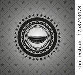 watermelon icon inside dark...   Shutterstock .eps vector #1258743478