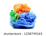 colour garbage plastic bags... | Shutterstock . vector #1258749265