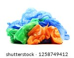 colour garbage plastic bags... | Shutterstock . vector #1258749412