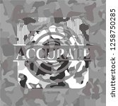 accurate grey camouflage emblem | Shutterstock .eps vector #1258750285