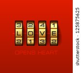 Love Opens Heart. Combination...