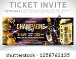gold champagne. invitation... | Shutterstock .eps vector #1258762135