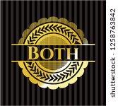both gold badge or emblem   Shutterstock .eps vector #1258763842