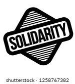 solidarity black stamp  sticker ... | Shutterstock .eps vector #1258767382