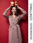 sexy pretty lady fashion model... | Shutterstock . vector #1258770862