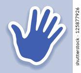 hand print paper effect  web...   Shutterstock .eps vector #125877926