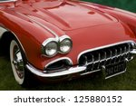 the hood of a classic sports... | Shutterstock . vector #125880152
