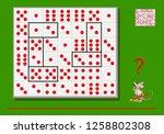logic puzzle game for children... | Shutterstock .eps vector #1258802308