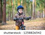 happy kid boy of 3 or 5 years... | Shutterstock . vector #1258826542