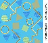 seamless pop art pattern....   Shutterstock .eps vector #1258829392