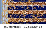 baroque seamless pattern with... | Shutterstock .eps vector #1258830415