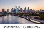 philadelphia skyline at sunrise | Shutterstock . vector #1258832962