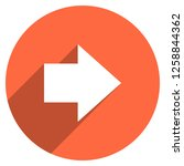 arrow sign direction icon in... | Shutterstock .eps vector #1258844362