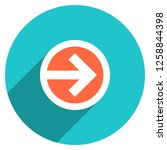arrow sign direction icon in... | Shutterstock .eps vector #1258844398