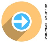 arrow sign direction icon in... | Shutterstock .eps vector #1258844485