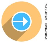 arrow sign direction icon in... | Shutterstock .eps vector #1258844542