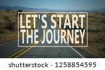 let start the journey. travel... | Shutterstock . vector #1258854595