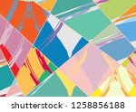 abstract collage asymmetric... | Shutterstock .eps vector #1258856188