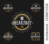 breakfast logo set  for... | Shutterstock .eps vector #1258871518