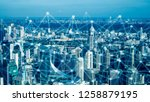 smart city and network... | Shutterstock . vector #1258879195