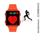 smart watch vector icon for... | Shutterstock .eps vector #1258883422