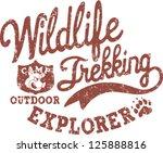 wildlife trekking   print for...