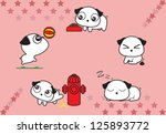 life circle of cute dogs... | Shutterstock .eps vector #125893772