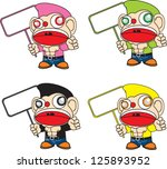 colorful of strong monkey with... | Shutterstock .eps vector #125893952