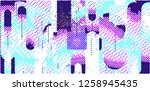 abstract vector background dot... | Shutterstock .eps vector #1258945435