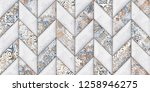 colorful digital wall tiles... | Shutterstock . vector #1258946275